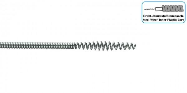 Keulenkopfspirale Draht-/Kunststoff-Seele 6,4mm