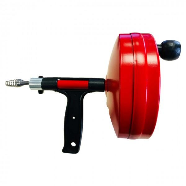 Déboucheur à tambour 6,4mm x 7,5m rouge