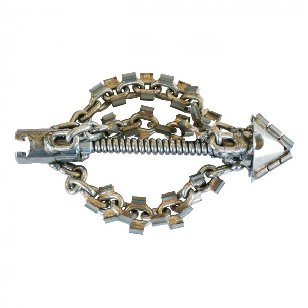 """Chain head with 40mm carbide drill head & spikes 22mm T-Nut (7/8"""")"""