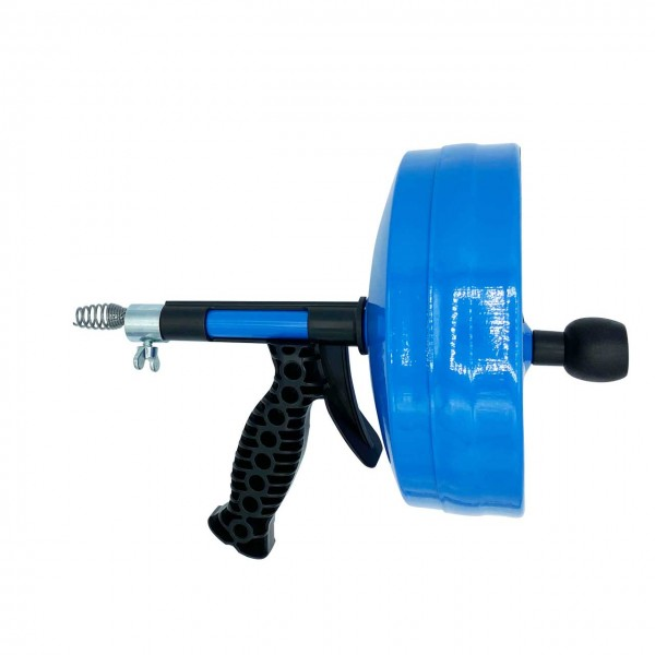 Drain cleaning device with drain cable 6,4mm x 7,5m