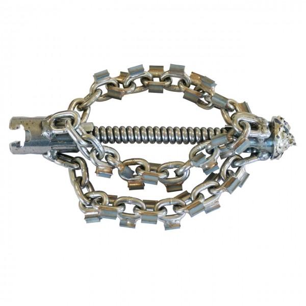 """Batteur à chaîne avec tête de forage en carbure et pointes, 22mm coupleur en T (7/8"""")"""