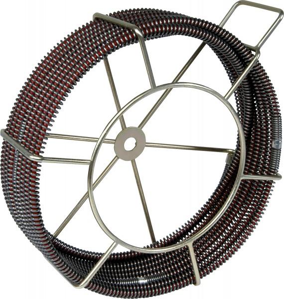 5 Rohrreinigungsspiralen verstärkt mit Kern S-SMK 16mm Korb
