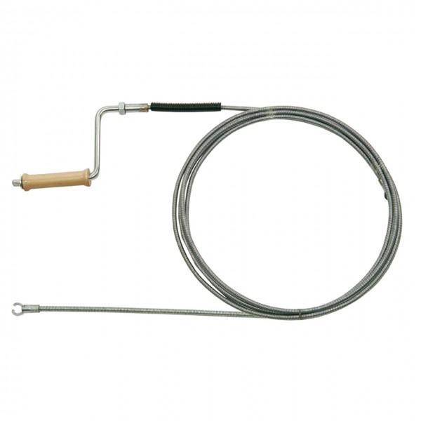 Rohrreinigungsspirale Ø 8mm, doppelt gewickelt, mit Kurbel