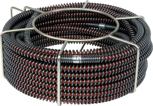 """5 S-drain cleaning cables reinforced with core (S-SMK) 22mm 7/8"""" in basket"""