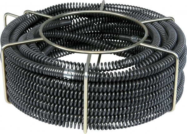 """5 drain cleaning cables standard Ø22mm 7/8"""" in a carrying basket"""