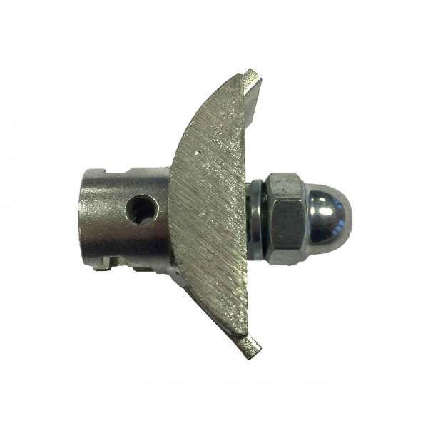 Ersatzaufnahme mit T-Nut für Wurzelschneider und Gabelschneidkopf