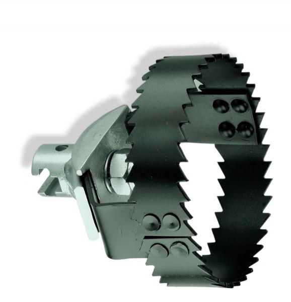"""Tête couteau coupe racine avec 22mm (7/8"""") coupleur en T"""