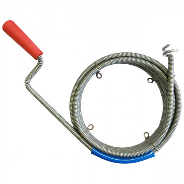 Drain cleaning cable Ø 9mm with drill head