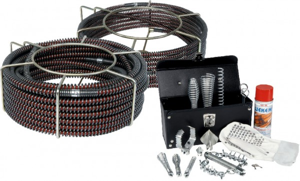 S-Spiralen mit roter Seele & Werkzeug-Set - 16mm & 22mm